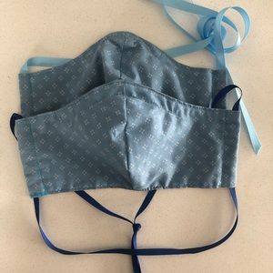 HANDMADE Cloth Ribbon Tie Face Mask 2 for 1